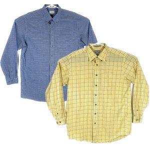 Lot of 2 LL Bean Mens Sz L Tall Button Down Shirts